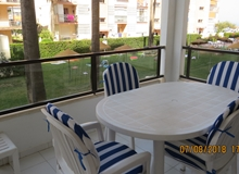 Los Boliches, Beachfront 2 bedroom apartment in Girolamar,  Fuengirola, with pool.