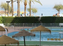 Los Boliches, Beachfront 4 bedroom apartment in Girolamar,  Fuengirola, with pool.